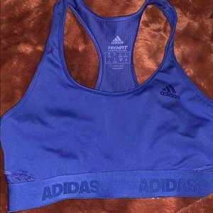 Adidas blue sport bra